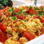 trứng chiên cà chua
