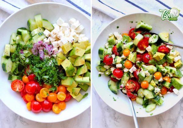 Cách làm salad bơ cà chua đơn giản giảm cân hiệu quả
