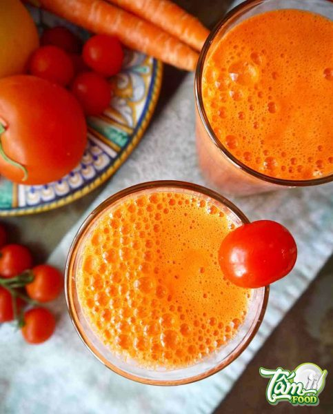 Nước ép cà chua cà rốt