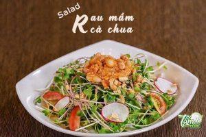 Salad rau mầm cà chua